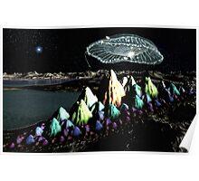 Arriving UFO Poster