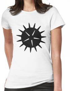 Sea Urchin Silhouette Womens Fitted T-Shirt