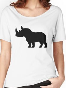 Rhinoceros Silhouette Women's Relaxed Fit T-Shirt
