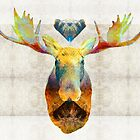Mystic Moose Art by Sharon Cummings by Sharon Cummings