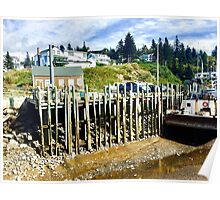 Halls Harbour NS 2 by Snow Poster