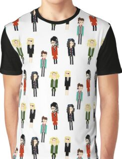 Pixel Clones - 5 - Vertical Graphic T-Shirt