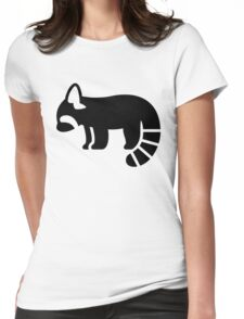 Red Panda Silhouette Womens Fitted T-Shirt