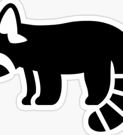 Red Panda Silhouette Sticker