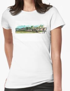 Coe Fen Sketching Womens Fitted T-Shirt