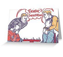 cherik vs spirk chess Greeting Card