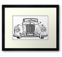 Mercedes Benz 300 Luxury Car Illustration Framed Print