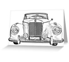 Mercedes Benz 300 Luxury Car Illustration Greeting Card