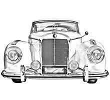 Mercedes Benz 300 Luxury Car Illustration Photographic Print
