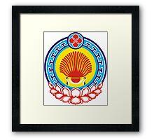 Kalmyk coat of arms Framed Print