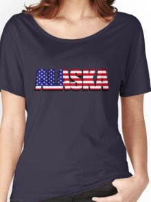 Alaska United States of America Flag Women's Relaxed Fit T-Shirt
