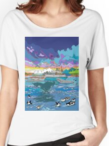 Whalewatching at dusk Women's Relaxed Fit T-Shirt