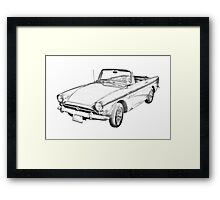Alpine 5 Sports Car Illustration Framed Print