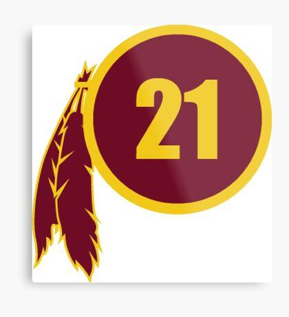 Sean Taylor Redskins Logo Metal Print