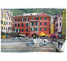 All About Italy. Piece 10 - Vernazza Houses Poster