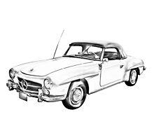 Mercedes Benz 300 sl Illustration Photographic Print