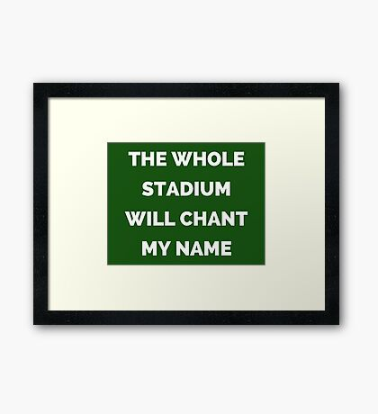 The Whole Stadium Green Framed Print