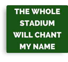 The Whole Stadium Green Canvas Print