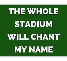 The Whole Stadium Green Photographic Print