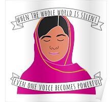 Malala - When The Whole World Is Silent Poster