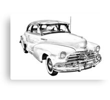 1948 Chevrolet Fleetmaster Antique Car Illustration Canvas Print