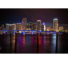 Miami Blue Bridge  Photographic Print