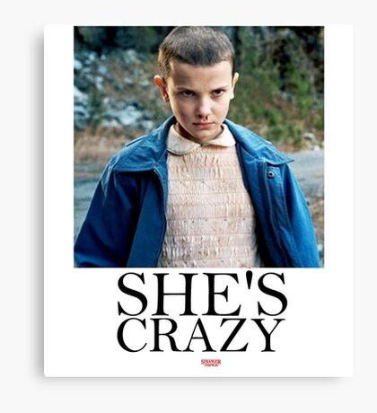 SHE'S CRAZY Canvas Print