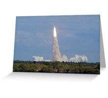 Liftoff: Space Shuttle Atlantis Greeting Card