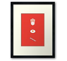 Milk Eggs and Bacon! Framed Print