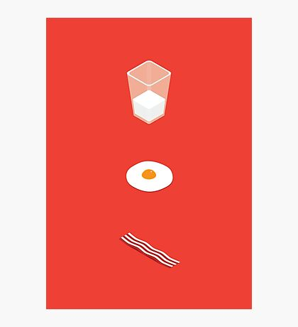 Milk Eggs and Bacon! Photographic Print