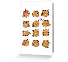 Fuzzballs Kawaii Tiger Greeting Card