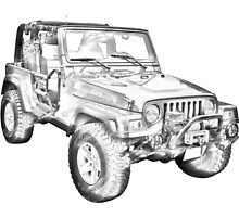 Jeep Wrangler Rubicon Illustration by KWJphotoart