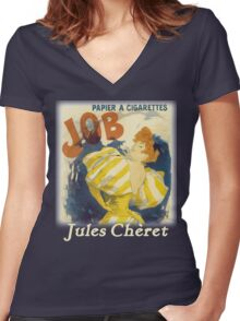 Cheret - Job Cigarette Women's Fitted V-Neck T-Shirt