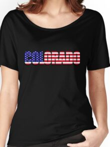 Colorado United States of America Flag Women's Relaxed Fit T-Shirt