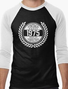 Vintage 1975 Aged To Perfection Men's Baseball ¾ T-Shirt