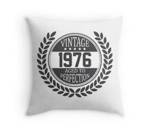 Vintage 1976 Aged To Perfection Throw Pillow