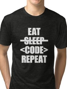 Eat Sleep Code Repeat Tri-blend T-Shirt