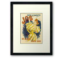 Cheret - Job Cigarette Framed Print