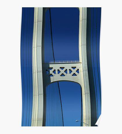 One Tower Mackinac Bridge Poster