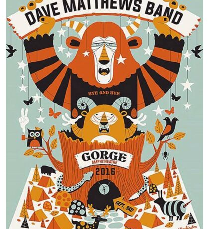 Dave Matthews Band, The Gorge Amphitheatre George WA Sticker