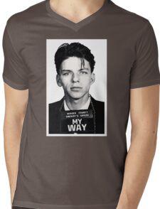 Mugshot My Way Mens V-Neck T-Shirt