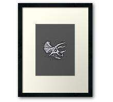 Pixkull - Triceratops  Framed Print