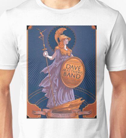 Dave Matthews Band, Greek Theatre Berkeley CA Black Unisex T-Shirt