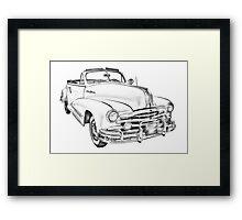 1948 Pontiac Silver Streak Convertible Illustration Framed Print