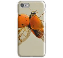 Lady Bug (Wings open) iPhone Case/Skin