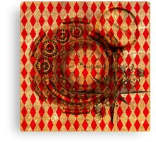 Steampunk Red Harlequin Canvas Print