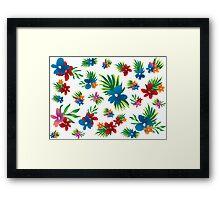 summer beach flowers Framed Print