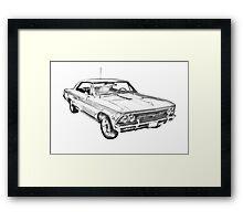 1966 Chevy Chevelle SS 396 Illustration Framed Print