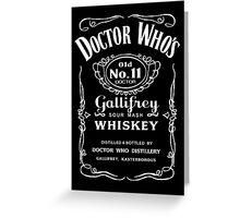 Jack Daniel's Doctor Who Greeting Card