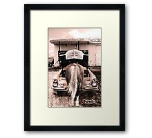 One horse town Framed Print